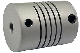 Helical WA25-6mm-6mm Flexible Aluminum Alloy Coupling, W Series