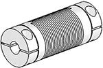 Helical UJ7C075-45-8-8 Flexured U-Joint, Stainless Steel