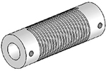 Helical UJA125-90-16-16 Flexured U-Joint, Aluminum