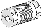 Helical UJAC075-30-6-6 Flexured U-Joint, Aluminum