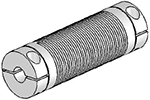 Helical UJAC075-90-6-6 Flexured U-Joint, Aluminum