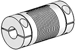 Helical UJAC100-30-8-8 Flexible Shaft Coupling U-Joint, Aluminum