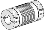 Helical UJAC125-30-16-16 Flexured U-Joint, Aluminum
