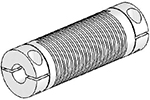 Helical UJAC125-90-16-16 Flexible Shaft Coupling U-Joint, Aluminum