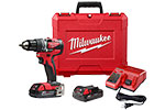 2801-22CT Milwaukee M18 Compact Brushless 1/2'' Drill Driver Kit