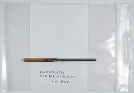 Chucking Reamer, .1960 Diameter, 0.1730 Pilot, HSS, 5'' OAL, RMA0S196U1736