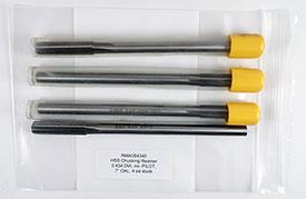 Chucking Reamer, .4340 Diameter, Non-Piloted, HSS, 7'' OAL, RMA0S4340